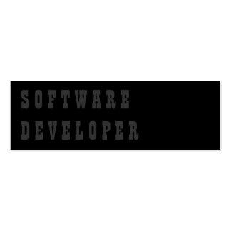 Software Developer Pack Of Skinny Business Cards