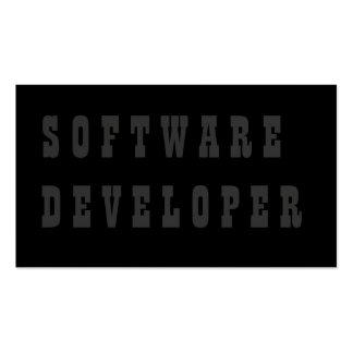 Software Developer Pack Of Standard Business Cards