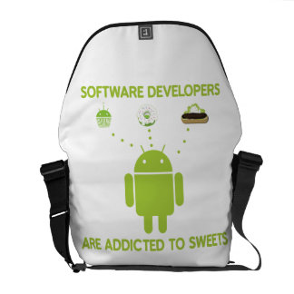 Software Developers Are Addicted To Sweets Messenger Bag
