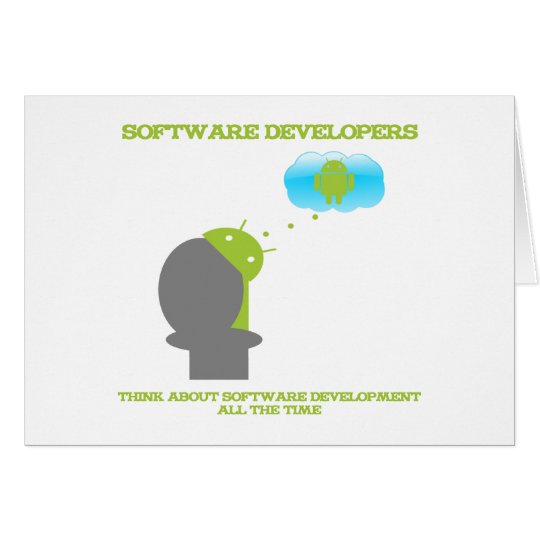 Software Developers Think About Software (Android) Card