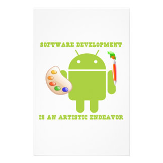 Software Development Is An Artistic Endeavor Custom Stationery