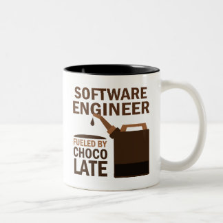 Software Engineer (Funny) Chocolate Two-Tone Coffee Mug