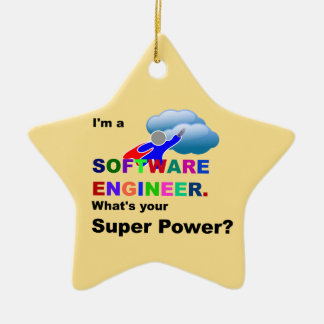 Software Engineer Superhero Ceramic Star Decoration