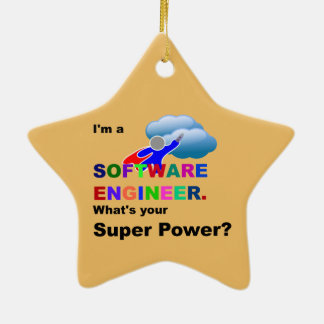 Software Engineer Superhero Christmas Ornament