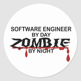Software Engineer Zombie Stickers