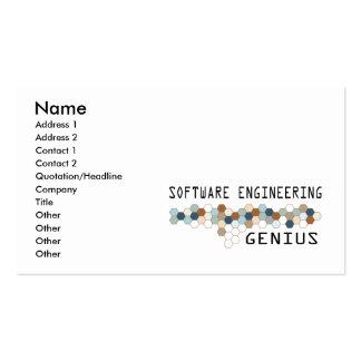 Software Engineering Genius Business Card