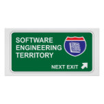 Software Engineering Next Exit Poster