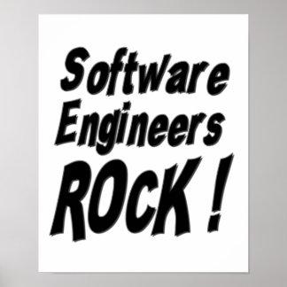 Software Engineers Rock! Poster Print