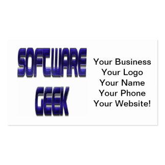 Software Geek Blue Pack Of Standard Business Cards