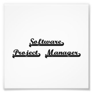 Software Project Manager Classic Job Design Photo Print