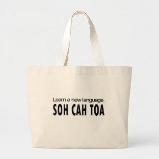 SOH CAH TOA _ learn a new language Jumbo Tote Bag