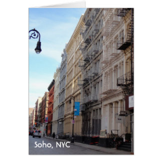 SoHo NYC Downtown Manhattan New York Cast Iron Card
