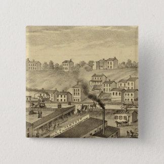 Soho Saw and Planing Mills and Barge Yards 15 Cm Square Badge