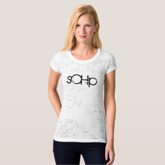 sOHp - women's fitted burnout tee with quirky text