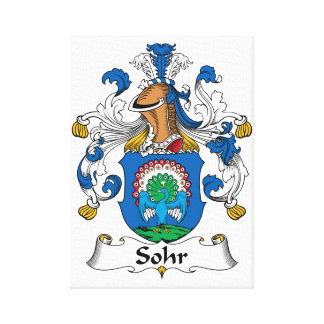 Sohr Family Crest Stretched Canvas Print
