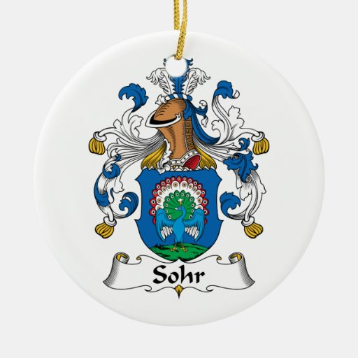 Sohr Family Crest Christmas Tree Ornament