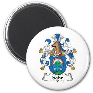 Sohr Family Crest 6 Cm Round Magnet