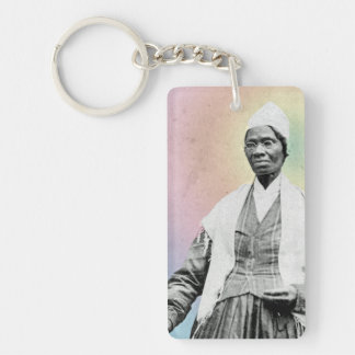 Sojourner Truth - rainbow Double-Sided Rectangular Acrylic Key Ring