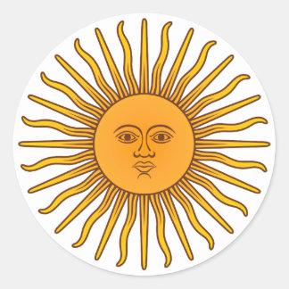 Sol de Mayo Classic Round Sticker