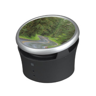 Sol Duc River Road through forest Bluetooth Speaker
