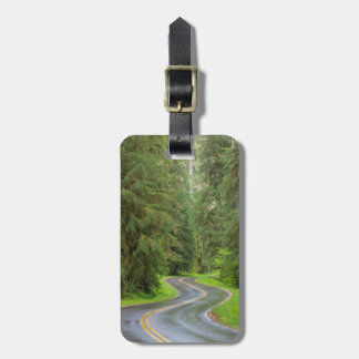 Sol Duc River Road through forest Luggage Tag