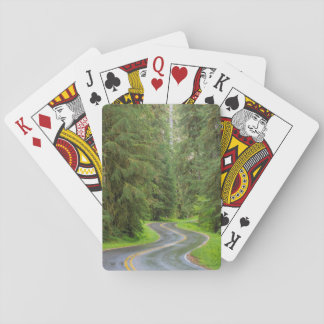 Sol Duc River Road through forest Playing Cards