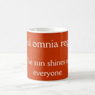 Sol omnia regit coffee mug