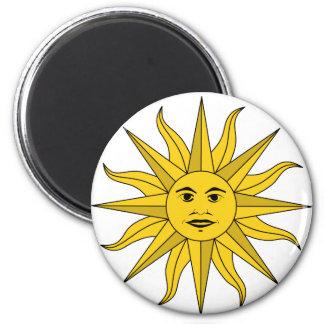 sol Uruguay 6 Cm Round Magnet