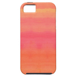 Sol-Yellow and orange ombre watercolor art iPhone 5 Cover