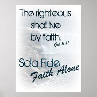 Sola Fide/ Faith Alone Poster