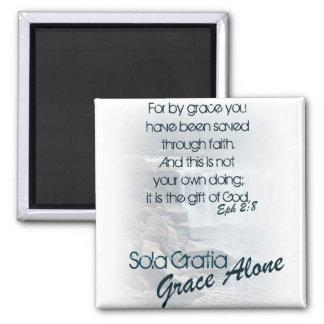 Sola Gratia/Grace Alone Square Magnet