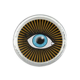 Solar Blue Eye Photo Ring