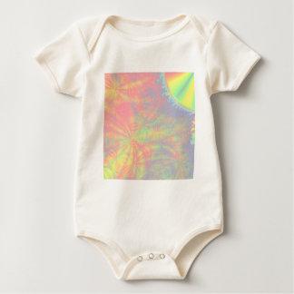 Solar Burst, Fractal Art. Colorful. Baby Bodysuit
