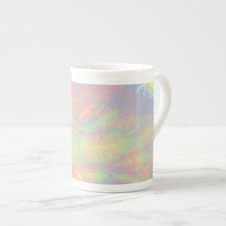 Solar Burst, Fractal Art. Colorful. Bone China Mug