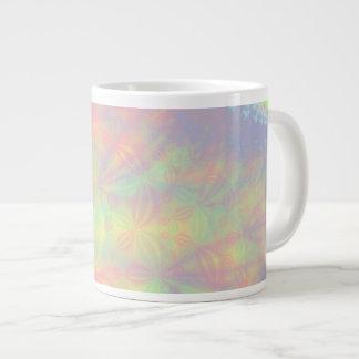 Solar Burst, Fractal Art. Colorful. 20 Oz Large Ceramic Coffee Mug