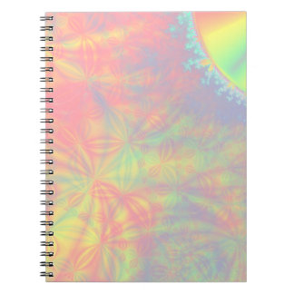 Solar Burst, Fractal Art. Colorful. Notebook