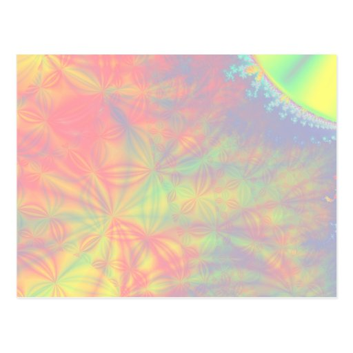 Solar Burst, Fractal Art. Colorful. Post Card