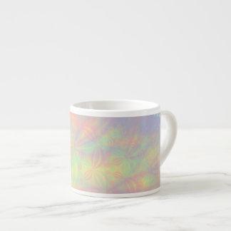 Solar Burst Fractal Art Colorful Espresso Cup