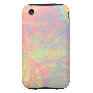 Solar Burst, Fractal Art. Colorful. Tough iPhone 3 Cases