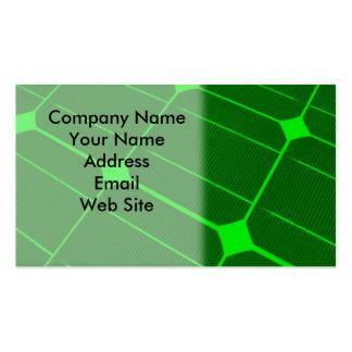 Solar Cell Energy Business Card