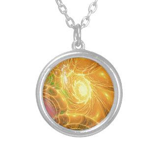 Solar Chaos Round Pendant Necklace