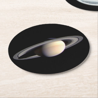 Solar Coasters - Paper - Saturn, set of 6 Round Paper Coaster