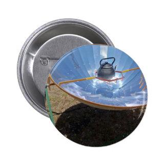 solar cooker 6 cm round badge