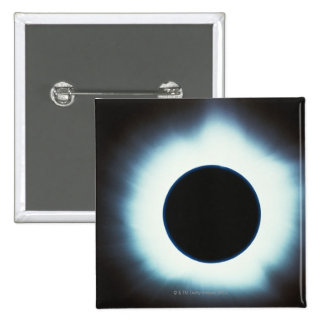 Solar Eclipse 15 Cm Square Badge