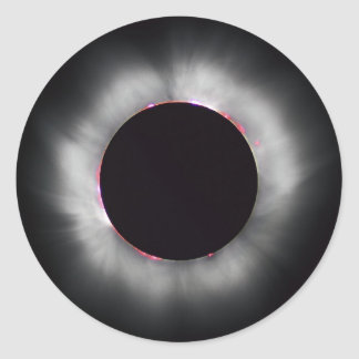 Solar Eclipse, 1999 Classic Round Sticker