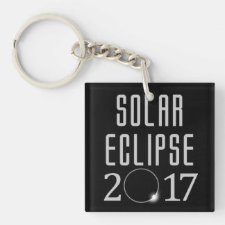 Solar Eclipse 2017 Keychain Customizable