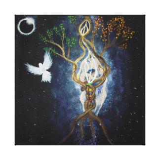 Solar Eclipse 2017 Sacred Union Canvas Print