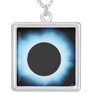 Solar eclipse 2 silver plated necklace