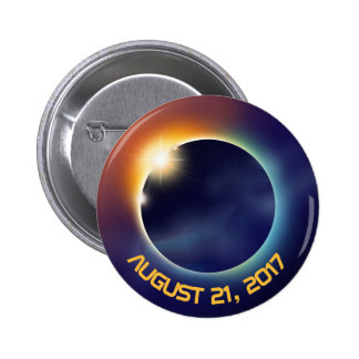 Solar Eclipse | Astronomy | Space 6 Cm Round Badge