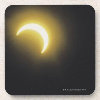 Solar eclipse beverage coasters
